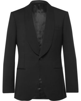 Black Slim-fit Wool And Mohair-blend Tuxedo Jacket