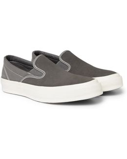 Deck Star 67 Suede And Canvas Slip-on Sneakers