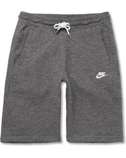 Legacy Mélange Loopback Cotton-jersey Drawstring Shorts