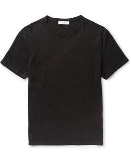 Slim-fit Slub Linen T-shirt