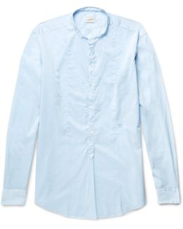 Kos Grandad-collar Cotton Shirt