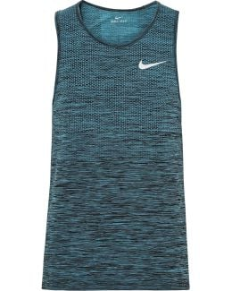 Mesh-panelled Space-dyed Dri-fit Tank Top