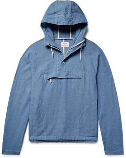 Linen And Cotton-blend Chambray Hooded Anorak