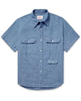 Cotton And Linen-blend Chambray Shirt