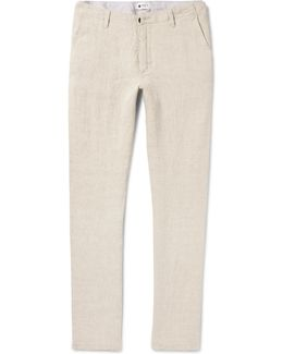 New Simon Slim-fit Tapered Linen Trousers
