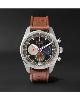 El Primero Classic Cars 42mm Stainless Steel And Leather Watch