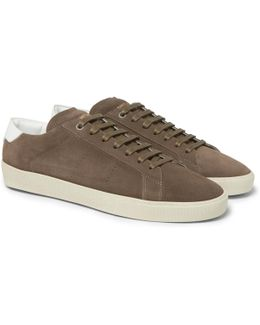 Sl/06 Court Classic Leather-trimmed Suede Sneakers