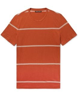 Slim-fit Striped Pima Cotton T-shirt