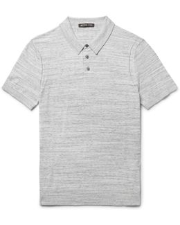 Mélange Cotton-jersey Polo Shirt