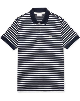 Striped Cotton-jersey Polo Shirt