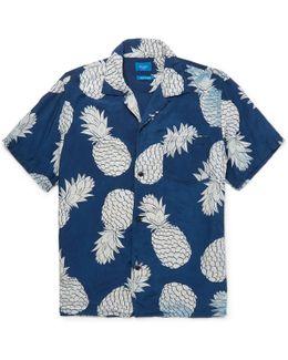 Indigo Aloha S/s Shirt In Indigo