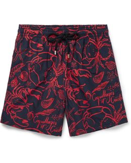 Moorea Long-length Printed Swim Shorts