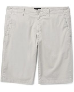 Zaine Slim-fit Stretch-cotton Twill Shorts