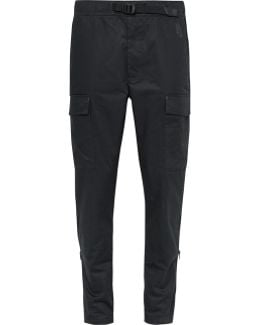 Lab Essentials Slim-fit Tapered Stretch-cotton Twill Cargo Trousers