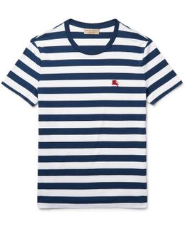 Slim-fit Striped Cotton-jersey T-shirt