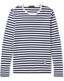 Runway Striped Cotton-jersey T-shirt