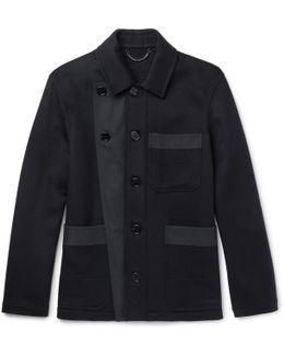Runway Gabardine-trimmed Double-faced Cashmere Jacket