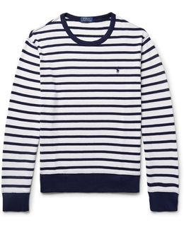 Striped Loopback Cotton-jersey Sweatshirt
