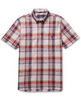 Slim-fit Madras-checked Cotton Shirt