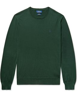 Slim-fit Pima Cotton Sweater