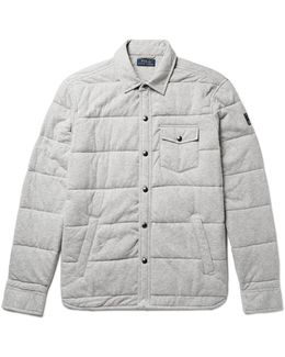 Quilted Cotton-jersey Shirt Jacket