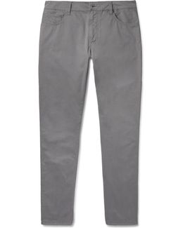 Trinity Stretch-cotton Twill Trousers