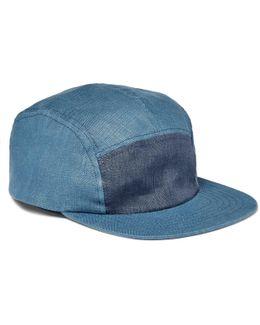 Two-tone Linen Baseball Cap