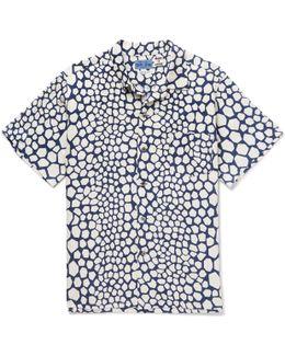 Bassen Printed Linen Shirt