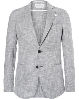Theobald Unstructured Linen And Cotton-blend Blazer
