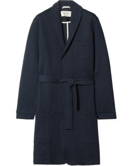Quilted Cotton-blend Jersey Robe