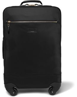 Leather-trimmed Shell Carry-on Suitcase