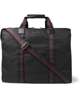 Leather-trimmed Shell Suit Carrier