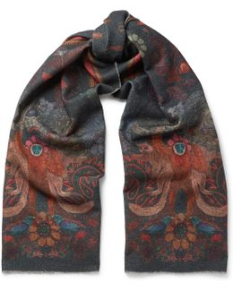 Horniman Patterned Wool And Cashmere-blend Scarf