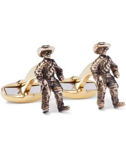 Cowboy Burnished Gold-tone Cufflinks