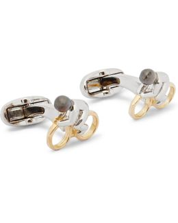 Cyclist Silver And Gold-tone Cufflinks