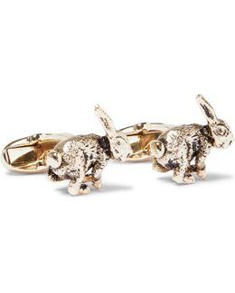 Rabbit Gold-tone Cufflinks