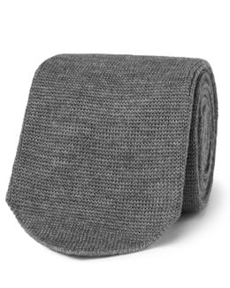 8cm Knitted Wool Tie