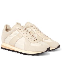 Retro Runner Suede, Leather And Shell Sneakers