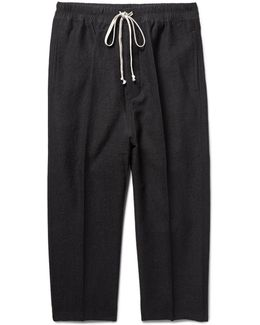 Astaires Cropped Slim-fit Woven Drawstring Trousers