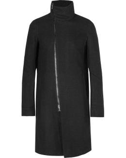 Virgin Wool-blend Twill Coat