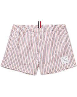 Striped Cotton-poplin Boxer Shorts