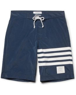 Long-length Striped Swim Shorts