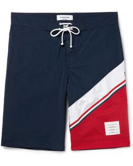 Long-length Colour-block Swim Shorts