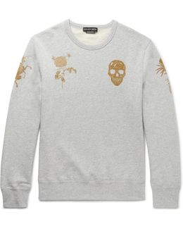 Slim-fit Printed Loopback Cotton-jersey Sweatshirt