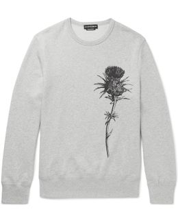 Thistle-print Loopback Cotton-jersey Sweatshirt