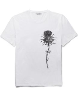 Slim-fit Thistle-print Cotton-jersey T-shirt