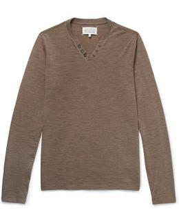 Slub Wool-blend T-shirt