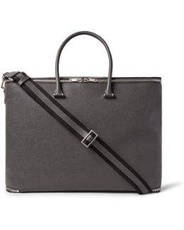 Versatile Pebble-grain Leather Holdall