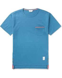 Slim-fit Grosgrain-trimmed Cotton-jersey T-shirt