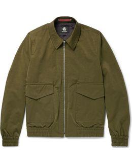 Slub Satin Flight Jacket